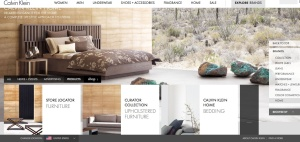 Calvin Klein Home website